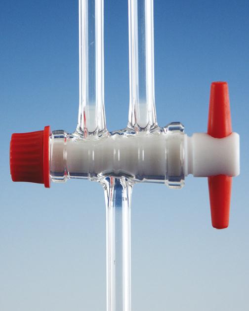 Kranen, patentkraan, met PTFE plug