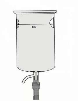 Reaktor, enkelwandig, met bodemaftap