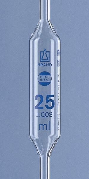 Volumepipet, Kl. AS, Blaubrand®, met 2 strepen